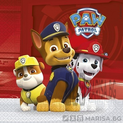 Парти салфетки Paw patrol READY FOR ACTION