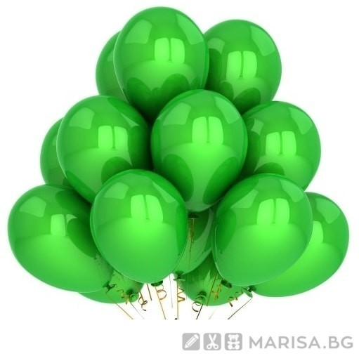 "Балони зелен металик MKTRADE 12 ""30см"