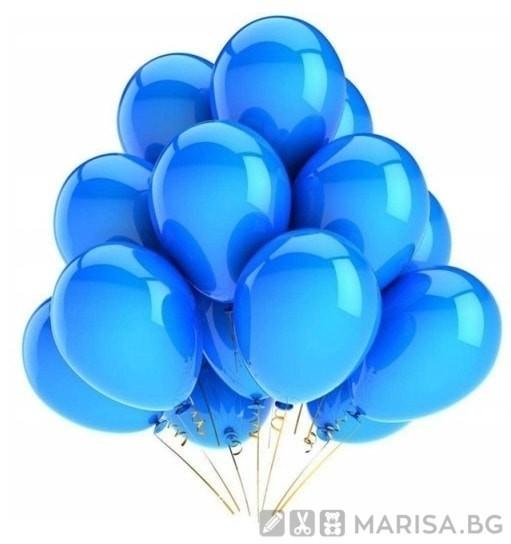 "Балони тъмно син металик MKTRADE 12 ""30см 80бр - B064"