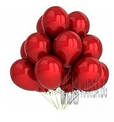 """Балони червен металик MKTRADE 12 """"30см"""